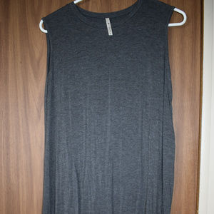 Grey Cut-Out Scalloped Dress Size M